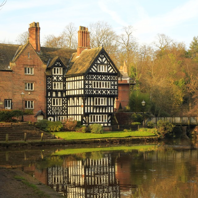 """The Packet House at Worsley"" stock image"