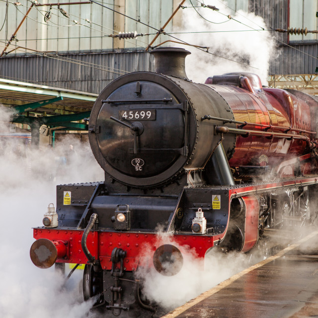 """LMS Jubilee Class No.45699 Galatea"" stock image"