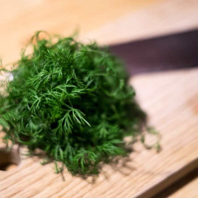 """Chopped Dill"" stock image"
