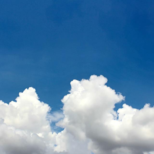 """""""blue sky with cloud closeup"""" stock image"""
