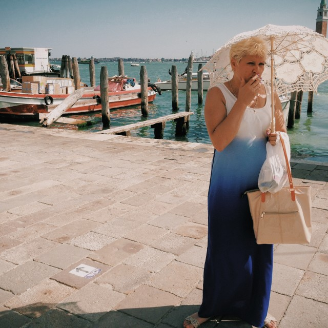 """A woman in Venice"" stock image"