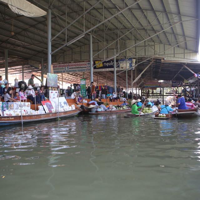 """""""Thailand Floating Market"""" stock image"""