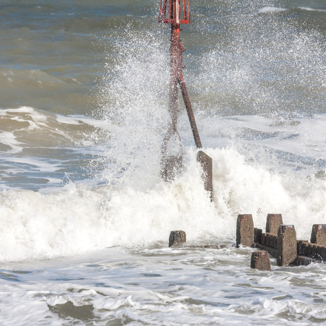 """Rough sea"" stock image"