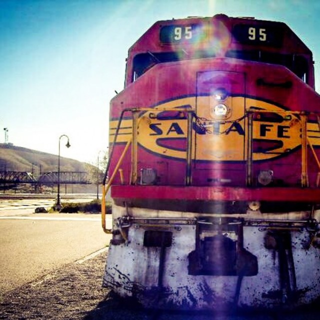 """Santa Fe Train"" stock image"
