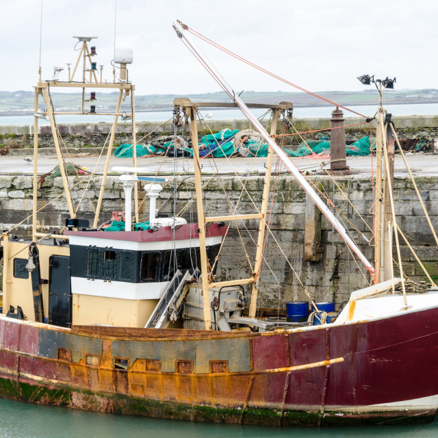 """Rusty Old Trawler"" stock image"