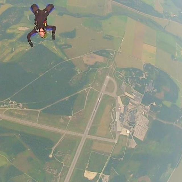 """""""Rookies first non help skydive jump. Fail. Available high res."""" stock image"""