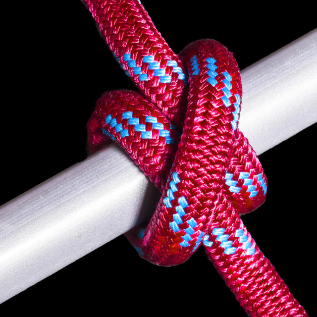 """""""A Clove Hitch Knot"""" stock image"""
