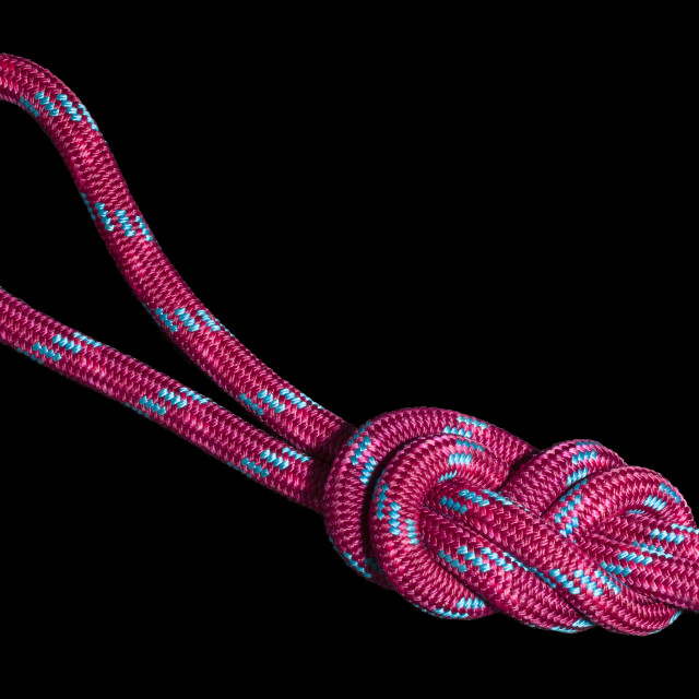 """""""A Figure of Eight Knot"""" stock image"""