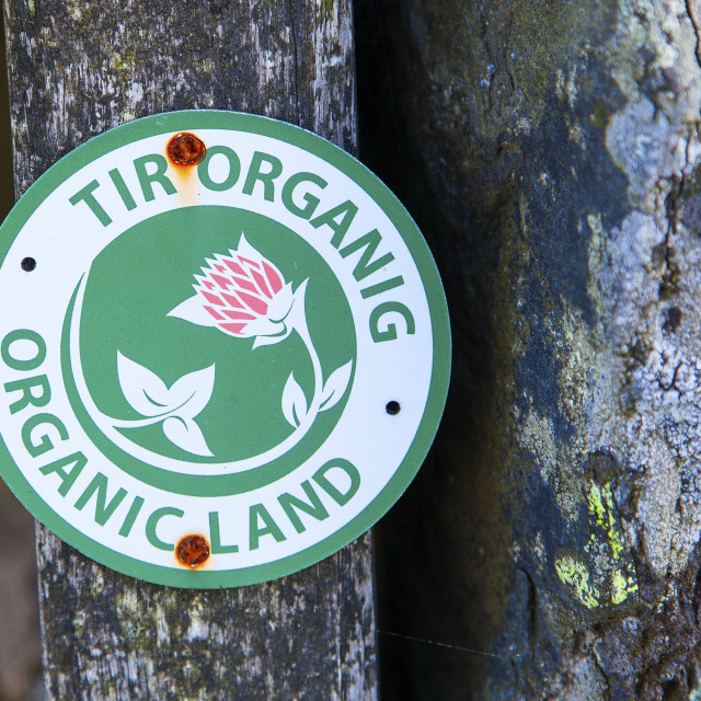 """Organic Land Notice"" stock image"
