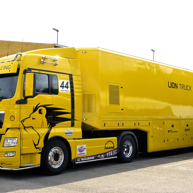 """""""Ales - France - Grand Prix of France trucks May 25th and 26th, 2013"""" stock image"""