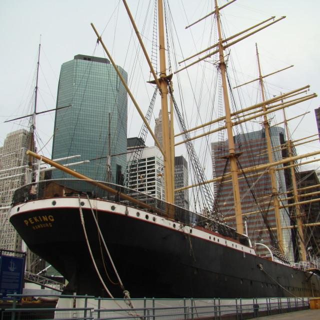 """""""New York Tallship"""" stock image"""