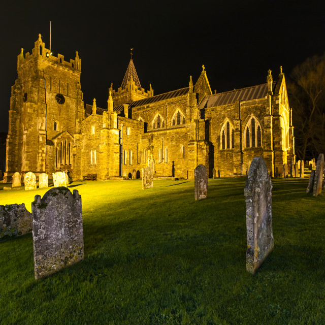 """A Church at Night"" stock image"