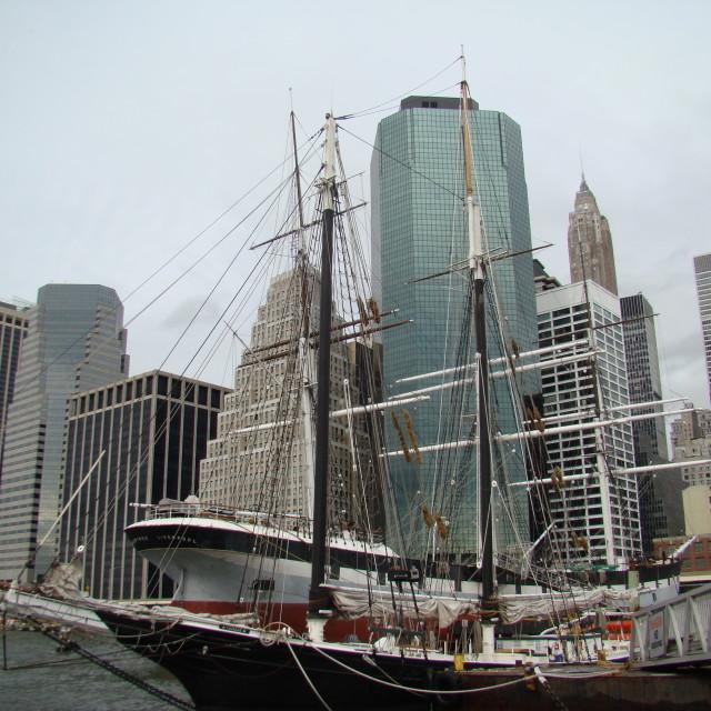 """South street seaport, New York"" stock image"
