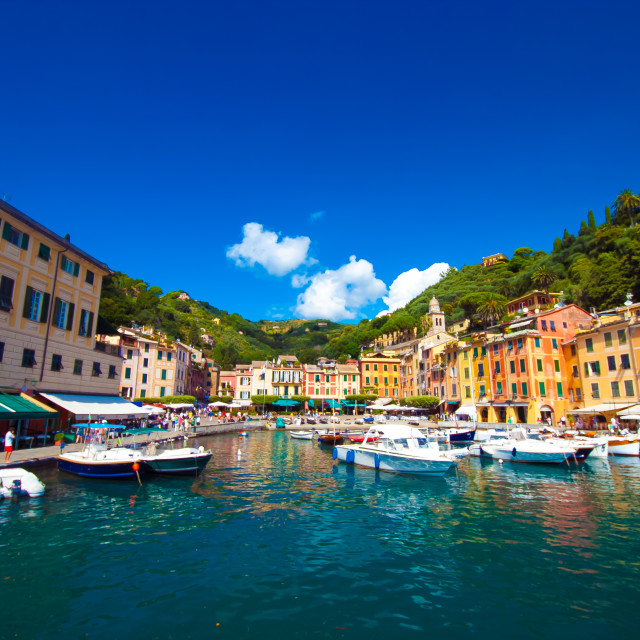 """Portofino Harbour"" stock image"