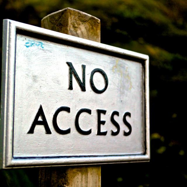 """No Access"" stock image"