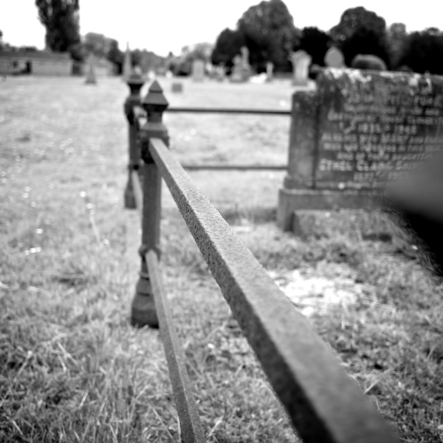 """Grave Railings"" stock image"