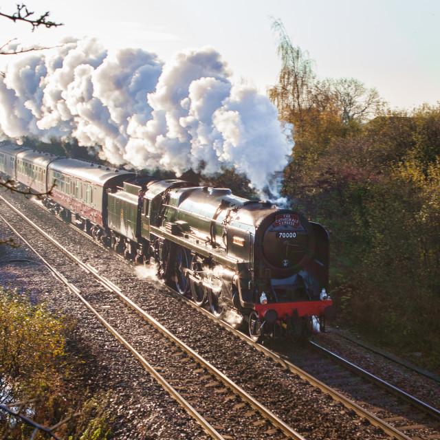 """""""BR Britannia Class No.70000 Britannia"""" stock image"""