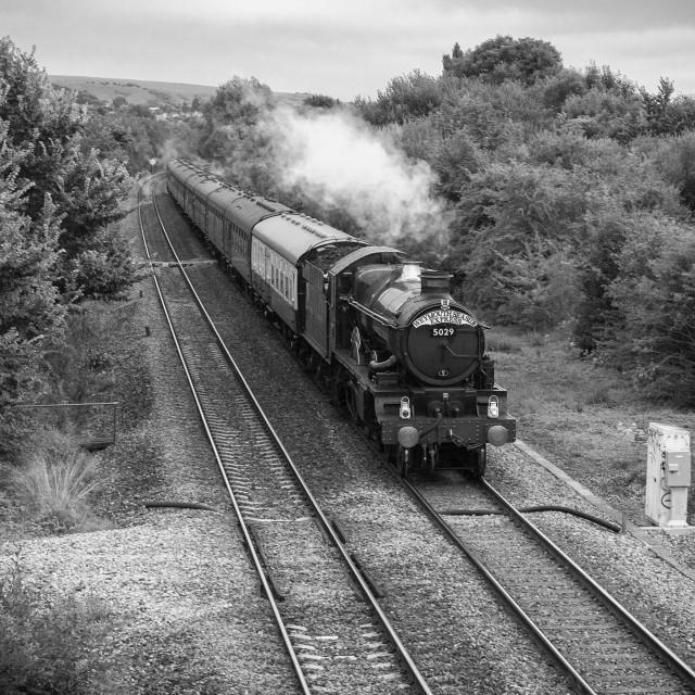 """""""GWR Castle No. 5029 Nunney Castle"""" stock image"""