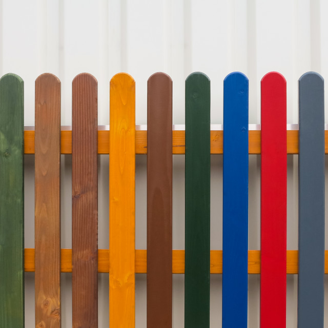 """Colorful Fence"" stock image"