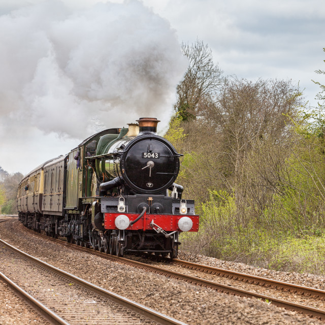 """""""GWR Castle Class No. 5043 Earl of Mount Edgcumbe"""" stock image"""