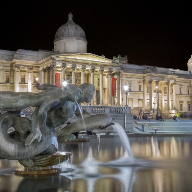 """National Gallery, Trafalgar Square. London"" stock image"