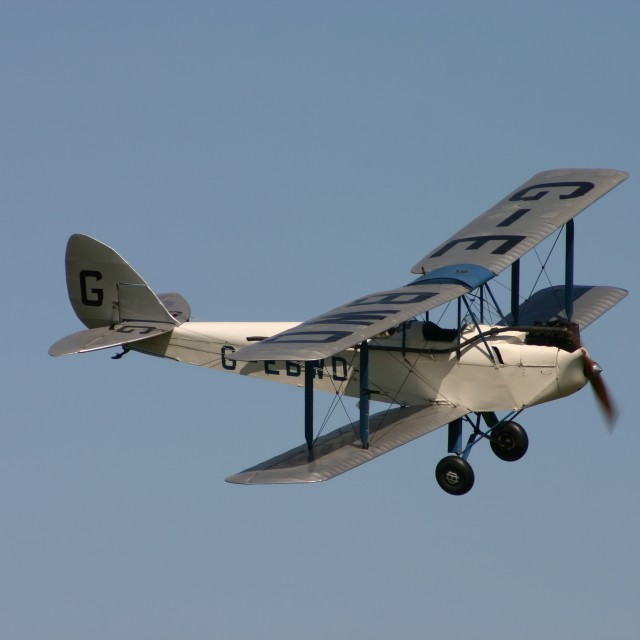 """De Havilland DH60x Moth G-EBWD"" stock image"