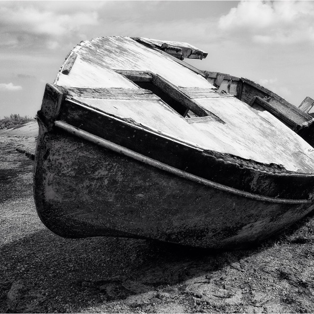 """Wrecked Boat"" stock image"