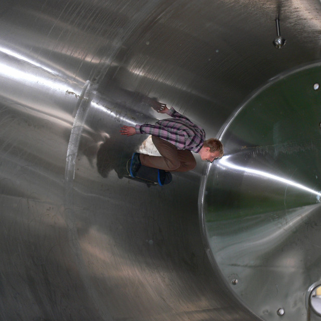 """Cylinder skateboarding"" stock image"