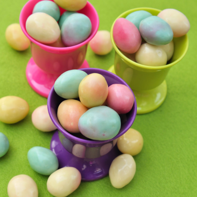 """small colorful eggs"" stock image"