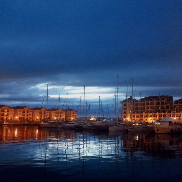 """marina at dusk 1"" stock image"