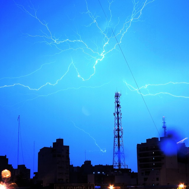 """lightning & blues 2"" stock image"