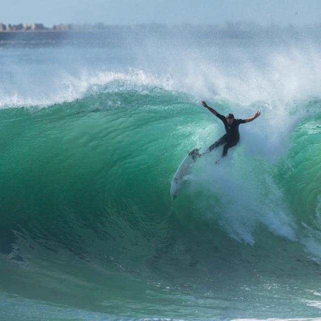 """""""Surfer Wave Crashing"""" stock image"""
