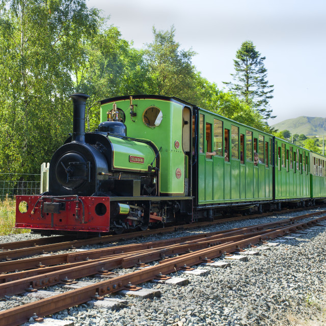 """Dolbadarn steam engine"" stock image"