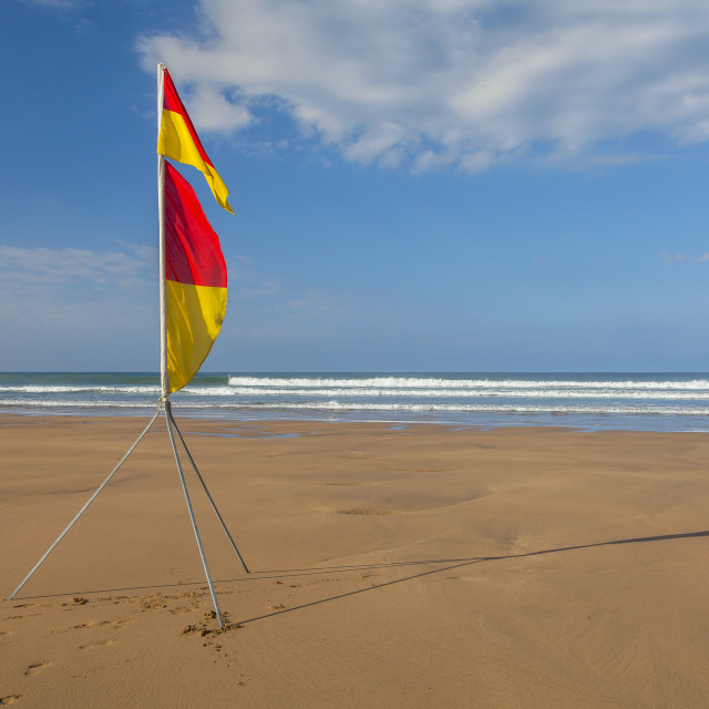 """Red and yellow flag"" stock image"