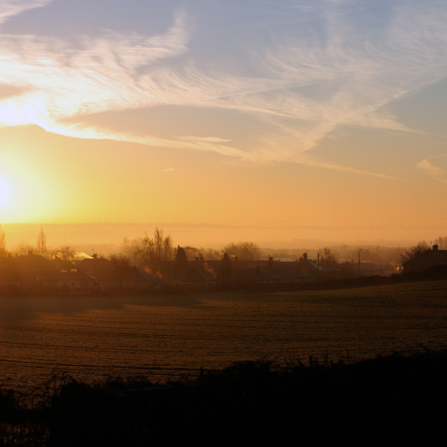"""Sunrise Hucknall ."" stock image"