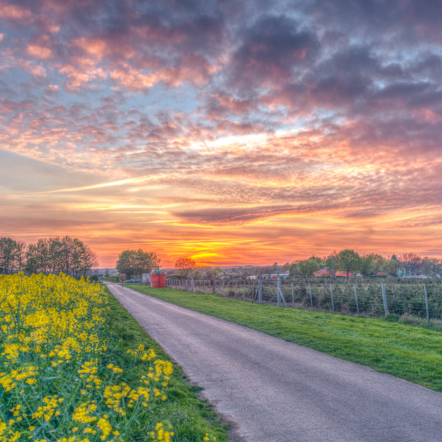 """""""Sunset HDR"""" stock image"""
