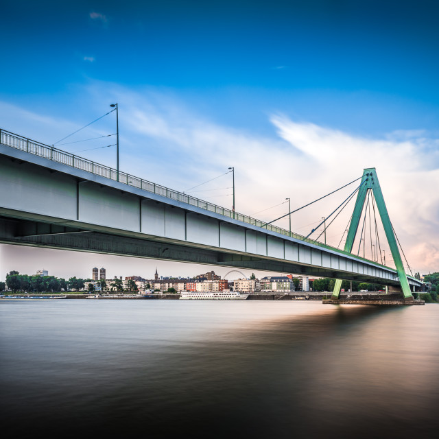 """Bridge over Rhein"" stock image"