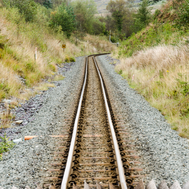 """Narrow Gauge Railway Track"" stock image"