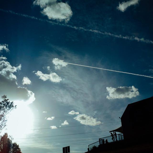 """""""Sky painting"""" stock image"""