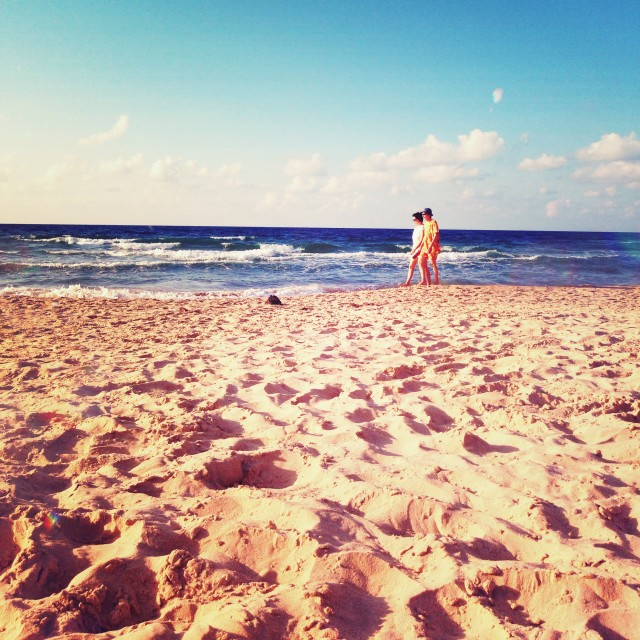 """On the beach"" stock image"