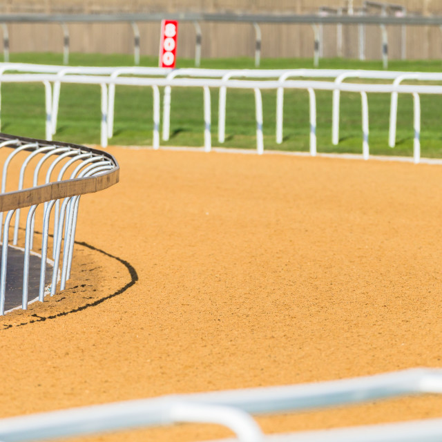 """Horse Racing Track Synthetic"" stock image"