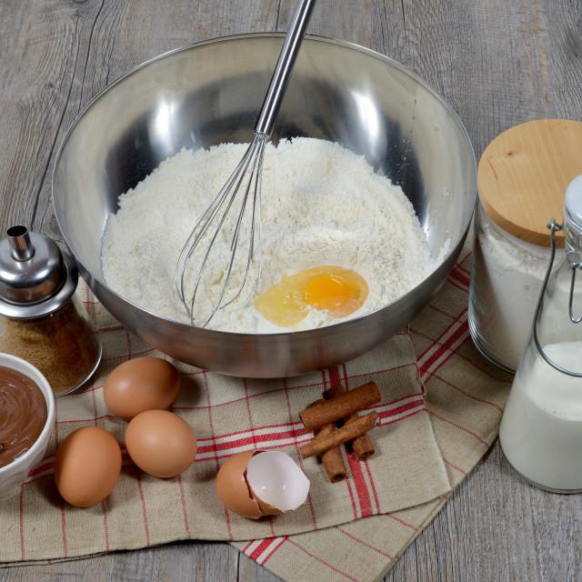 """""""preparing pancakes"""" stock image"""