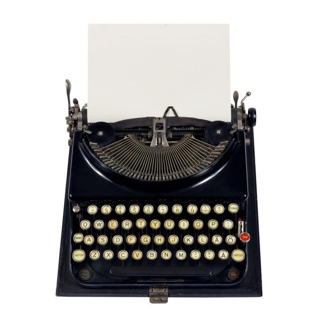"""""""old typewriter"""" stock image"""