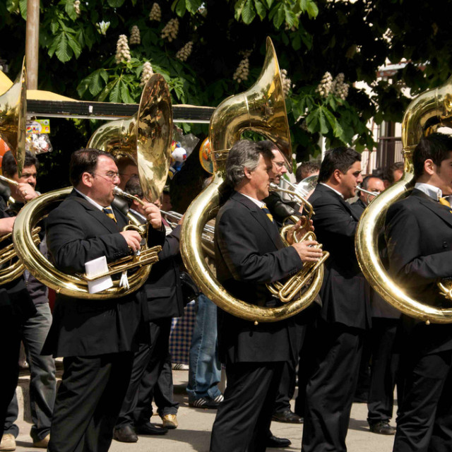 """Brass Band Ready for Parade"" stock image"