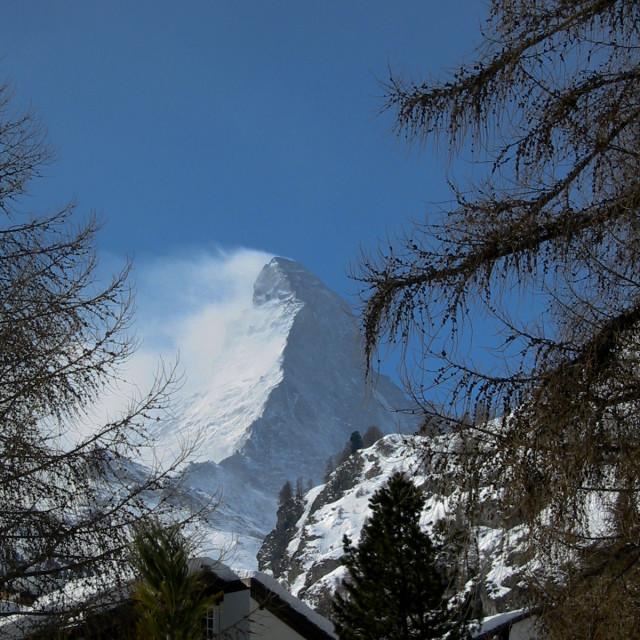 """""""Windy Matterhorn"""" stock image"""