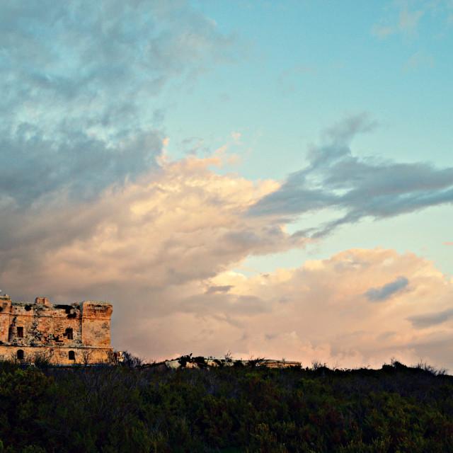 """St.Mary's Tower, Birzebbugia, Malta"" stock image"