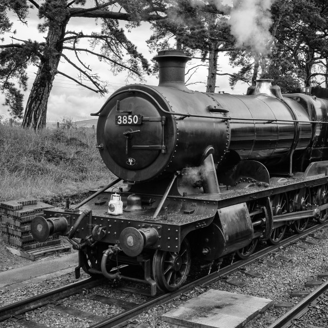 """GWR 2-8-0 No. 3850"" stock image"