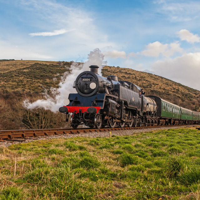 """BR Standard 4 No. 80104"" stock image"