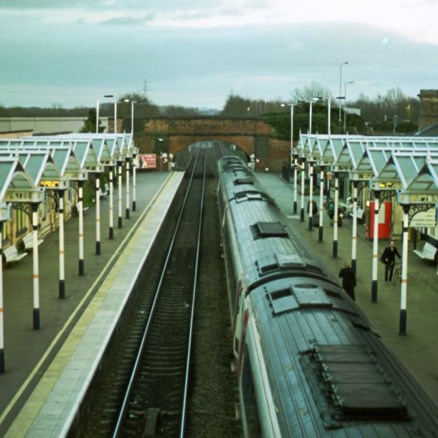 """Loughborough Train Station"" stock image"