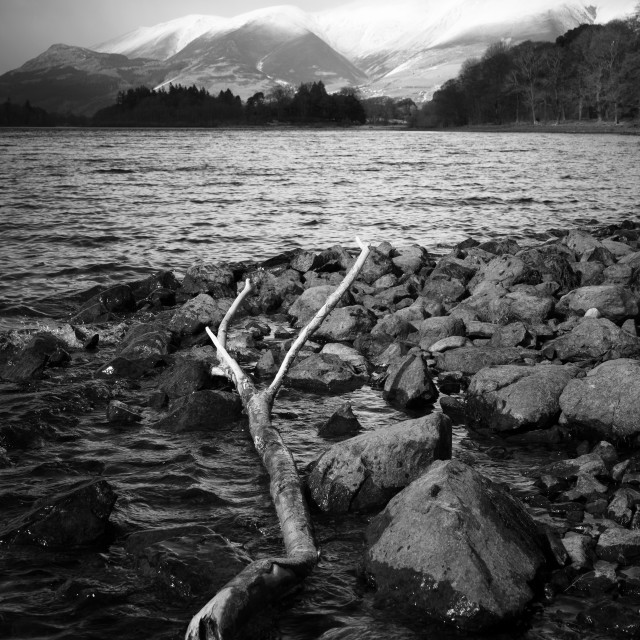 """Derwent Water And Skiddaw"" stock image"